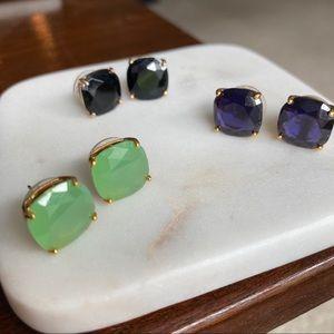 Kate Spade Gumdrop Stud Earrings - bundle of 3!